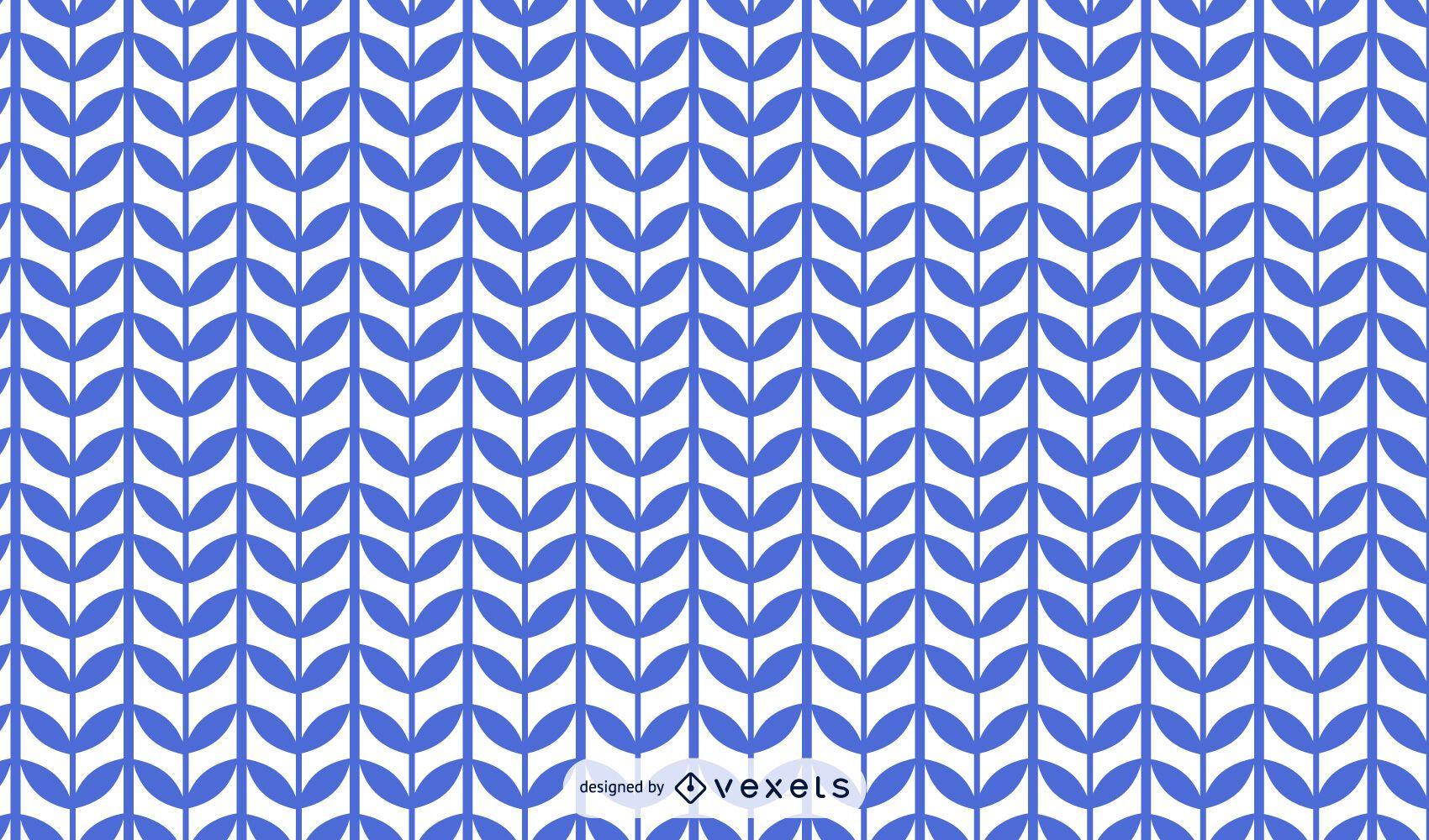 Diseño de patrón de tallo de planta azul