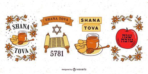 Conjunto de insignias de Rosh Hashaná