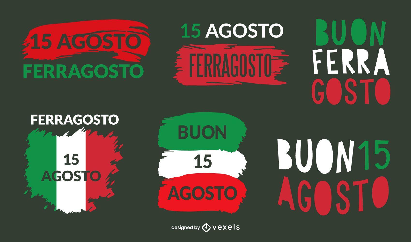 Ferragosto lettering set