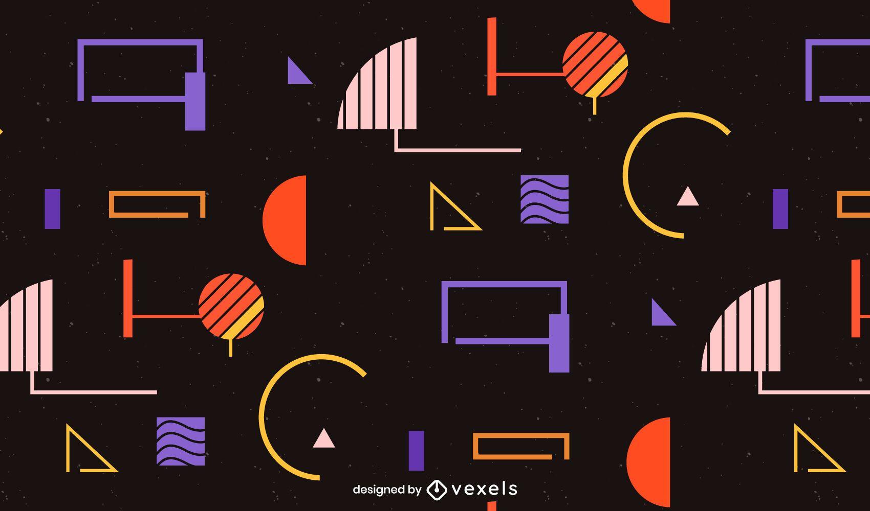 Diseño de patrón de forma geométrica