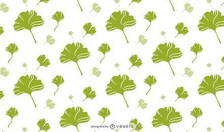 Desenho de folhas de ginkgo