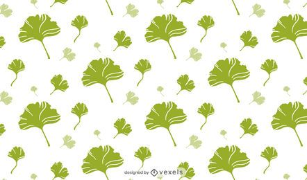 Diseño de patrón de hojas de ginkgo