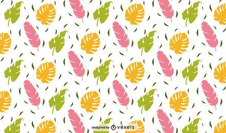 Diseño de patrón de hojas tropicales