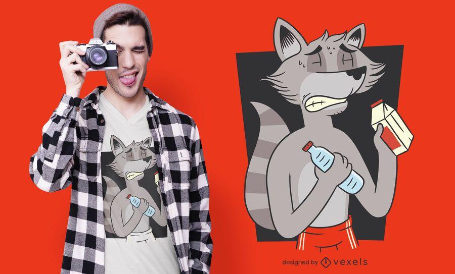 Raccoon diet t-shirt design