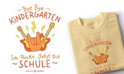 Tchau Design de camisetas infantis do jardim de infância