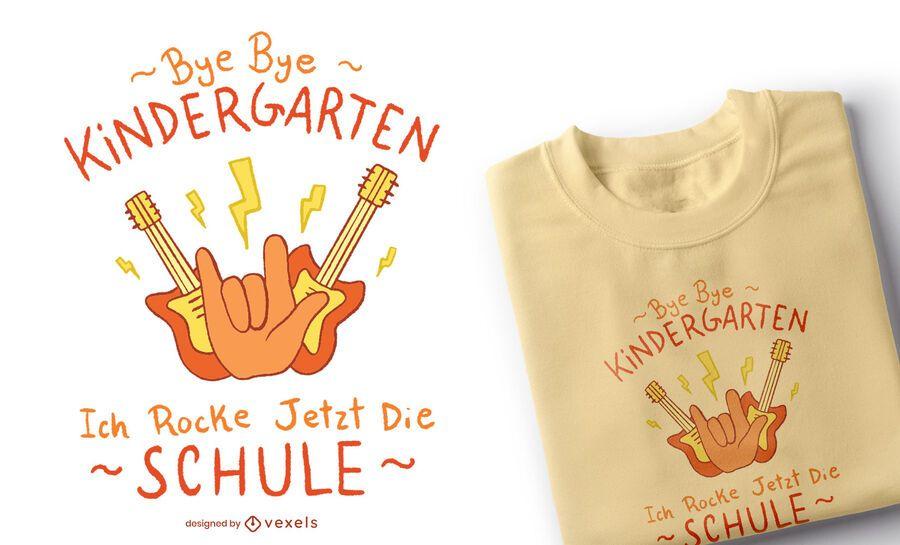 Diseño de camiseta para niños Bye Kindergarten
