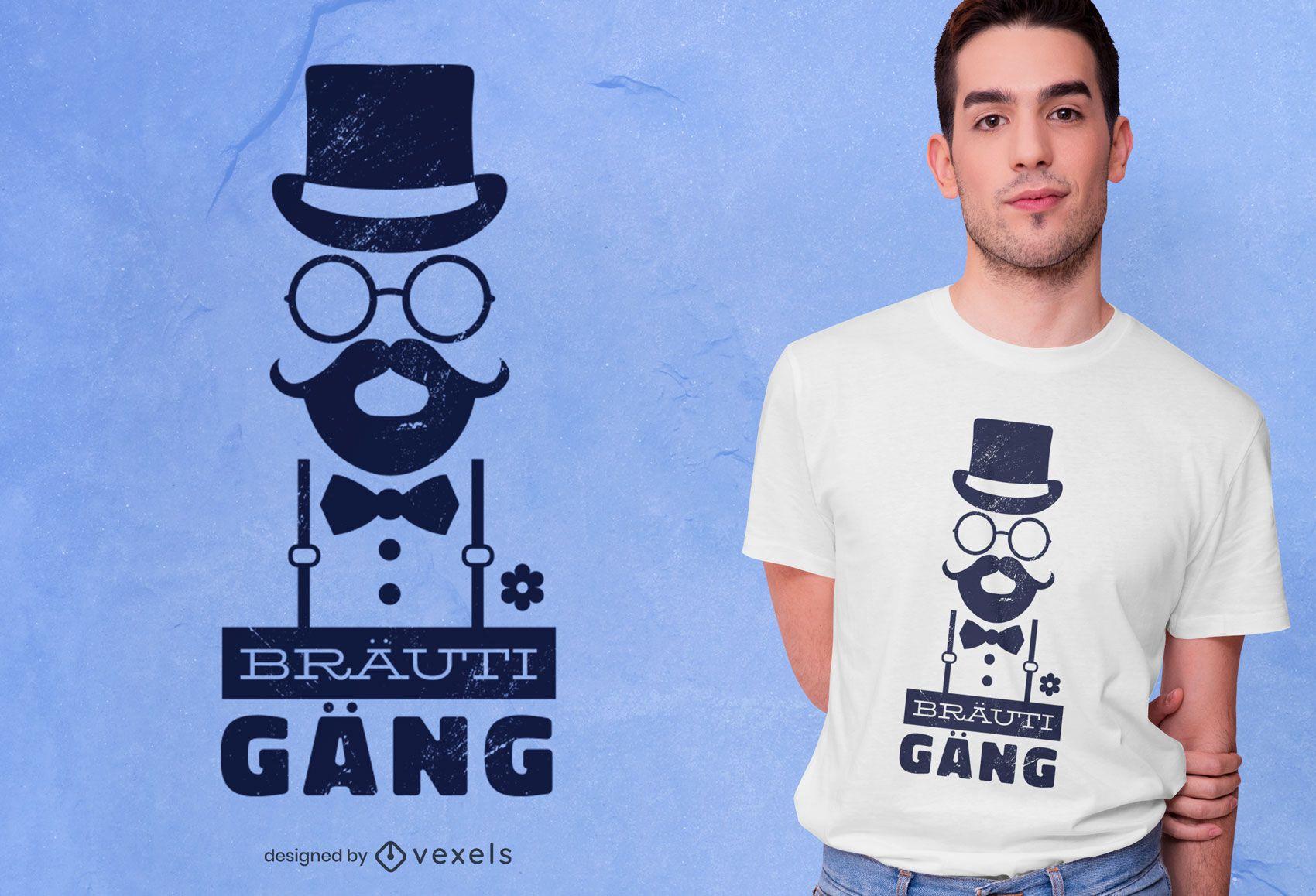 Diseño de camiseta Groom Gang German