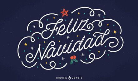 Feliz Navidad Schriftzug Design