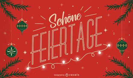 Design de citações alemãs para a temporada festiva