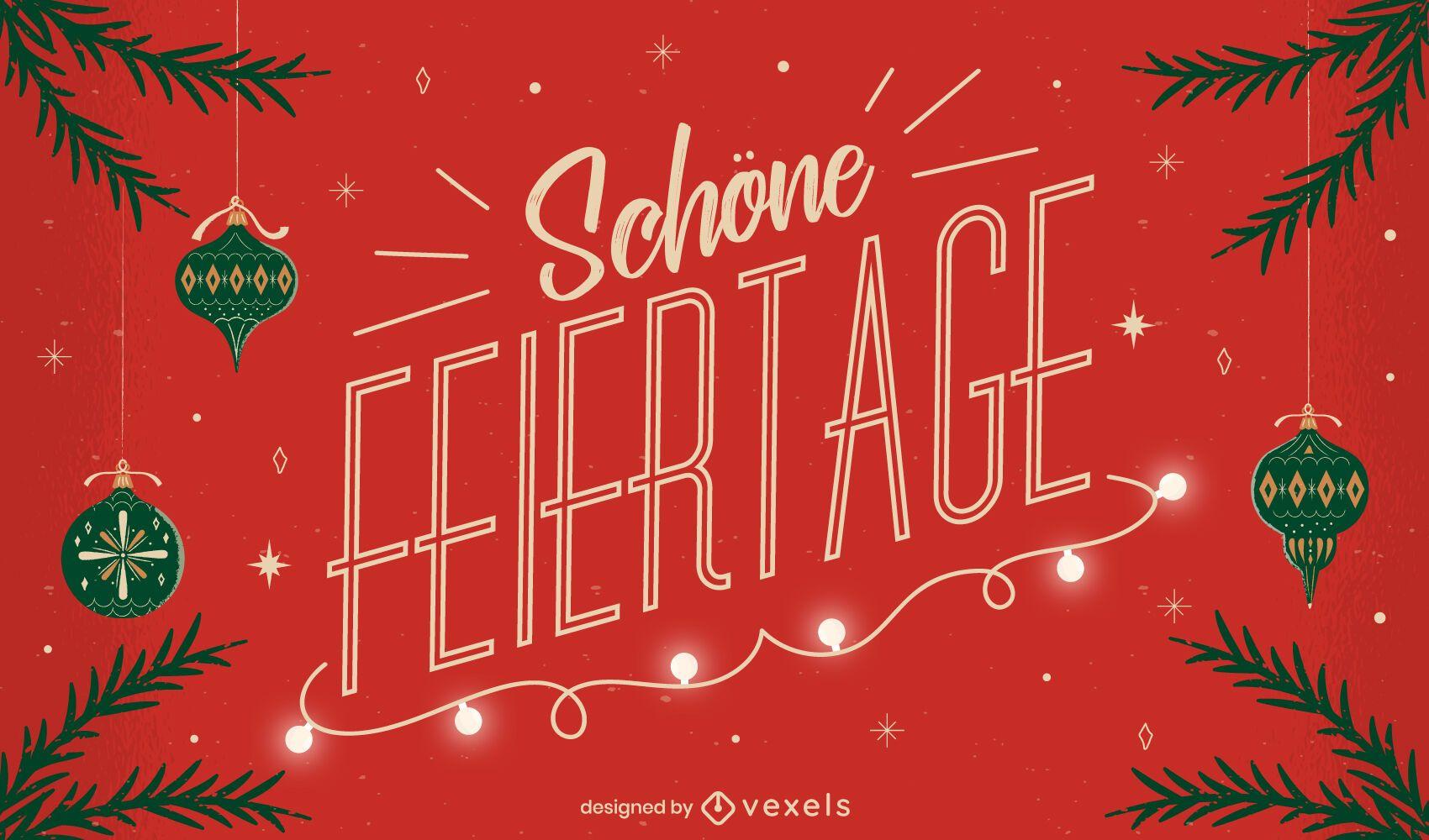 Festive Season German Quote Design