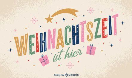Deutsches Weihnachtszitat Design