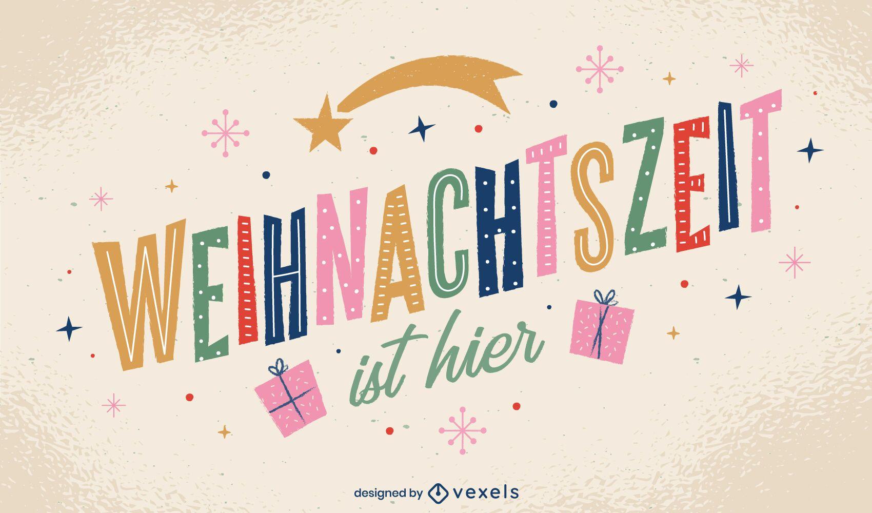 German Christmas Quote Design