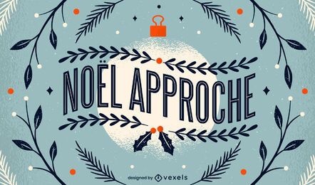 Design de letras de Natal francês