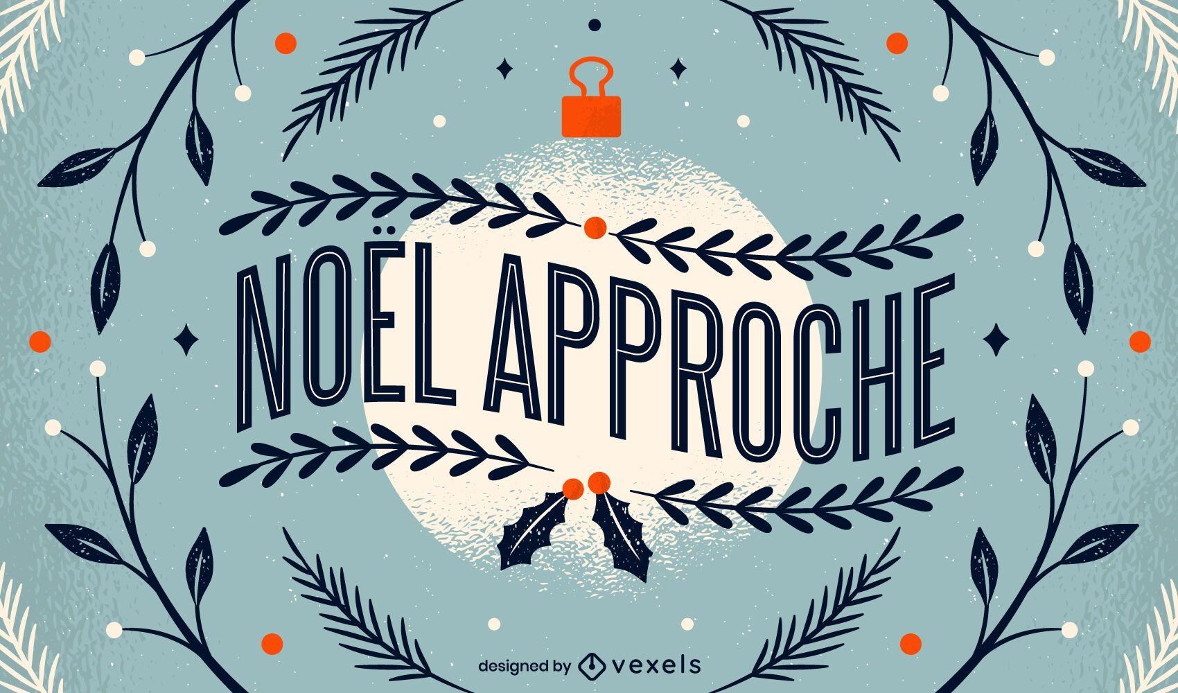 French Christmas Lettering Design