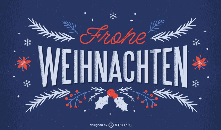 Christmas frohe weihnachten lettering