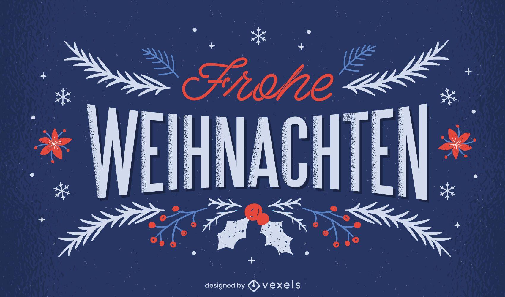 Letras de navidad frohe weihnachten