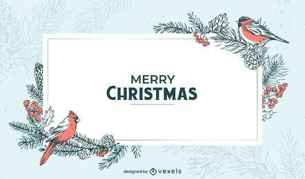 Feliz Natal inverno design de plano de fundo