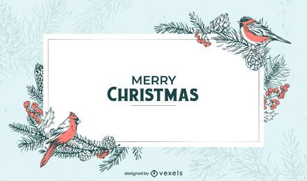 Merry christmas winter background design