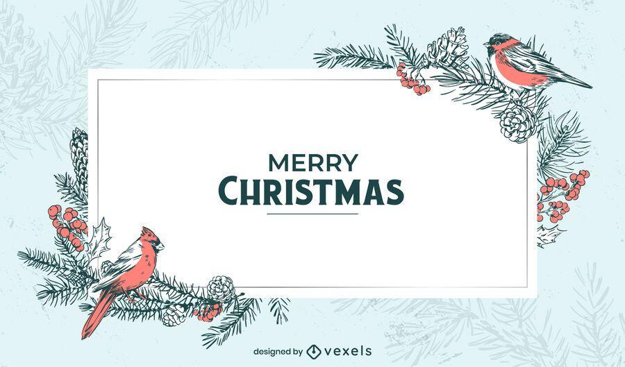 Diseño de fondo de invierno de feliz navidad