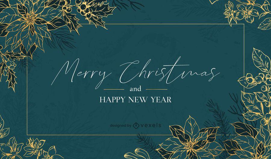 Happy holidays background design