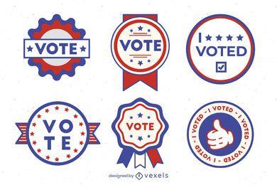 Votar conjunto de insignias de usa