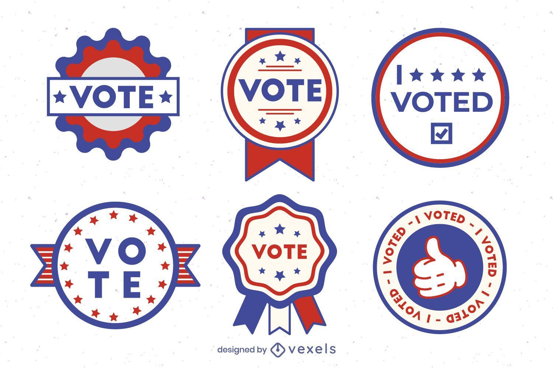 Vote usa badge set