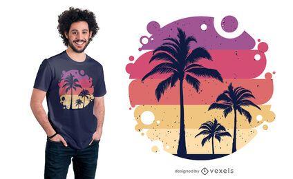 Diseño de camiseta de verano tropical.