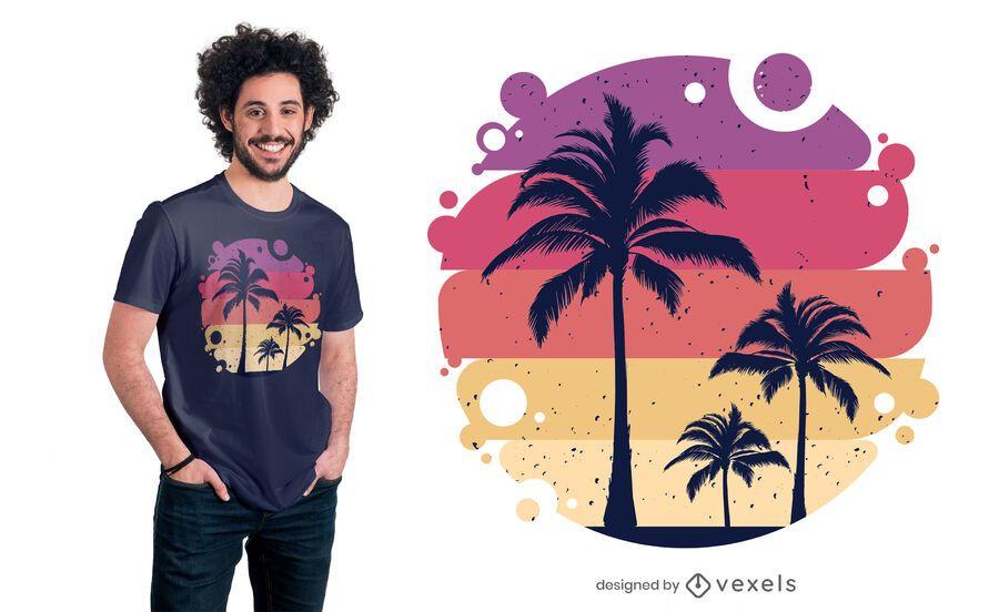 Design de camisetas tropicais de verão