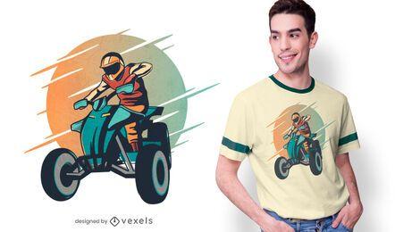 Design de camiseta quadriciclo
