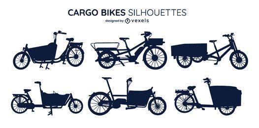 Pacote de silhueta para bicicleta de carga