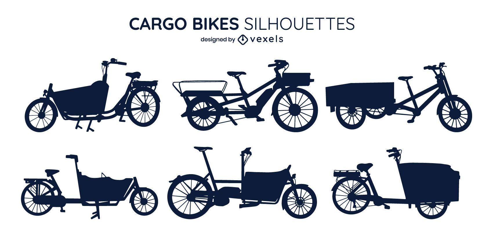 Paquete de silueta de bicicleta de carga