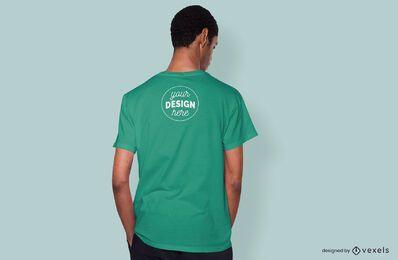 Back model t-shirt mockup