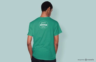 Maqueta de camiseta modelo de espalda