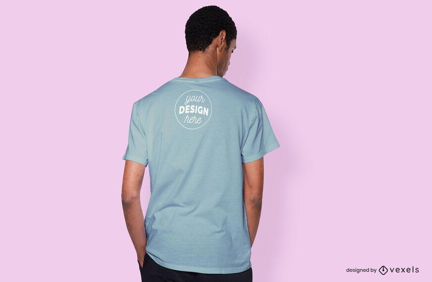 Maquete da camiseta traseira