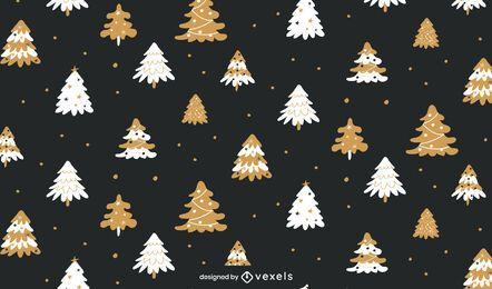 Diseño de patrón de vacaciones de árboles de Navidad