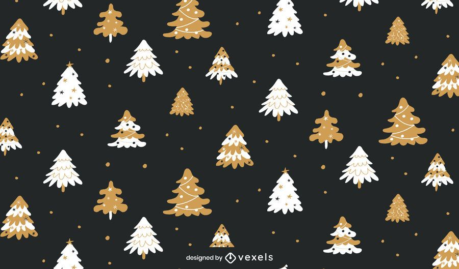 Christmas trees holiday pattern design