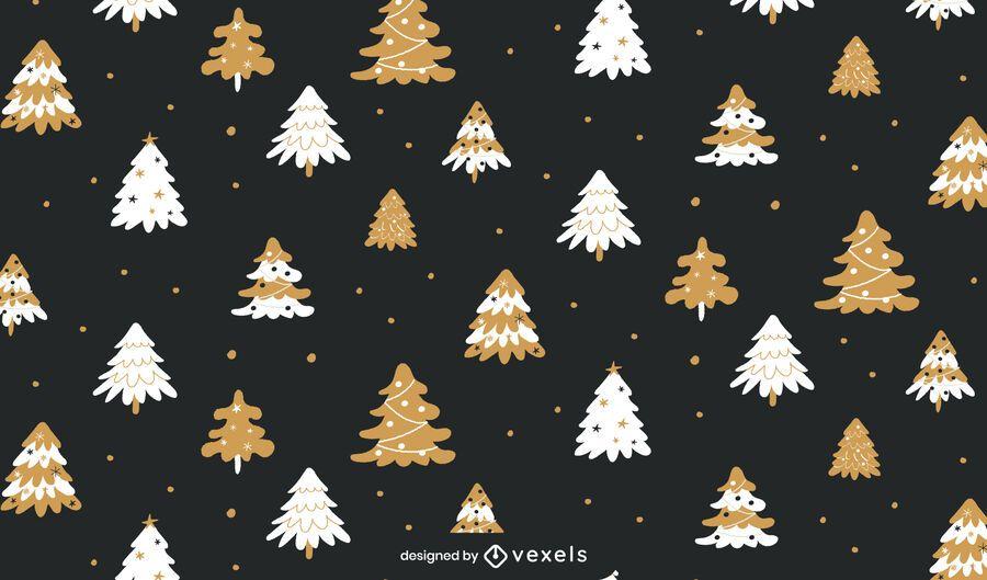 Projeto padrão de Natal para árvores de Natal
