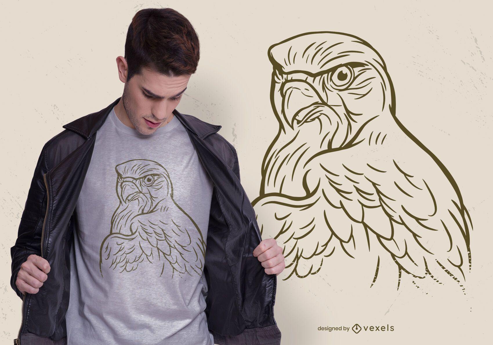 Hand drawn eagle t-shirt design