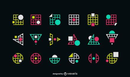 Logo-Set für geometrische Formen