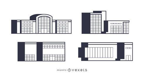 Diseño de escenografía de edificios comerciales