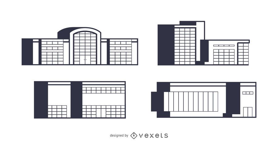 Mall buildings set design