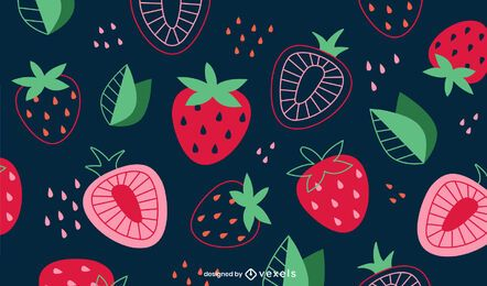 Diseño de fondo de fresas en rodajas