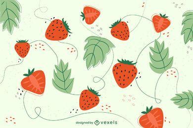 Diseño de fondo de fresa