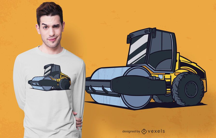 Design de camiseta Steamroller
