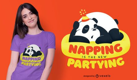 Diseño de camiseta panda nap