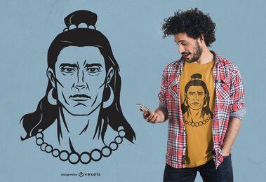 Design de camiseta com ilustração de Lord Shiva
