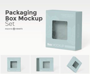 Packaging box mockup set