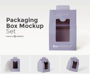 Package box mockup set