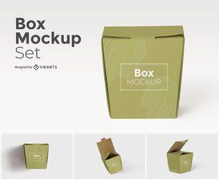 Conjunto de maquetas de caja de cubo de ostras
