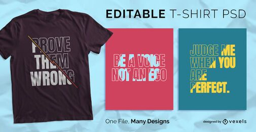 Fill Text Scalable T-shirt PSD